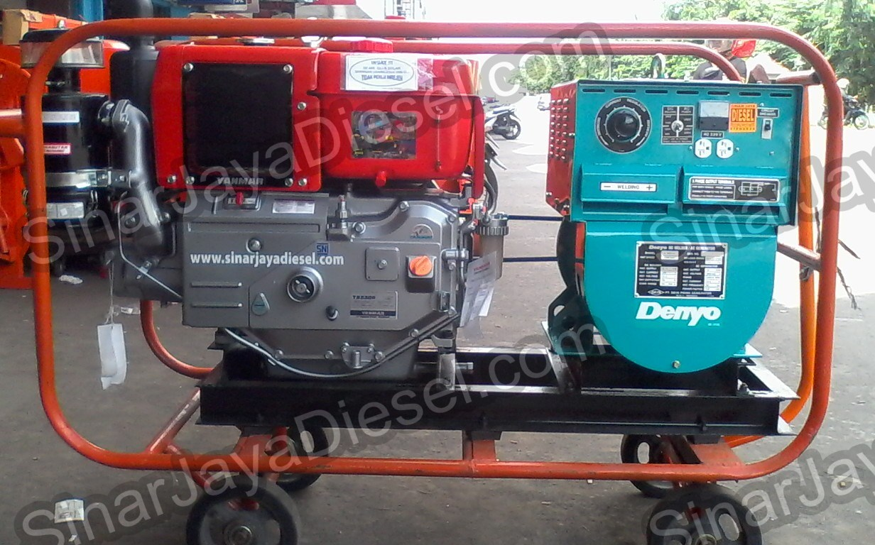 genset las denyo d 300 engine yanmar ts230 sinar jaya. Black Bedroom Furniture Sets. Home Design Ideas